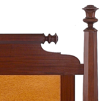 The American Empire Bed close up of post and headboard