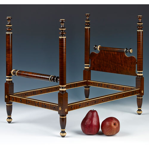 Quarter Scale Empire Bed With Gold Detail